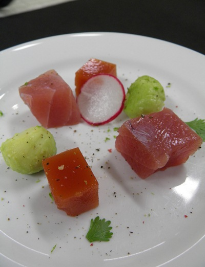 Tuna With Bloody Mary Jelly
