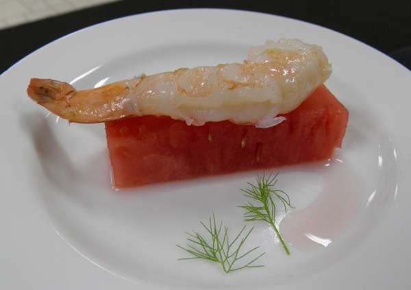 Watermelon Prawn Sashimi