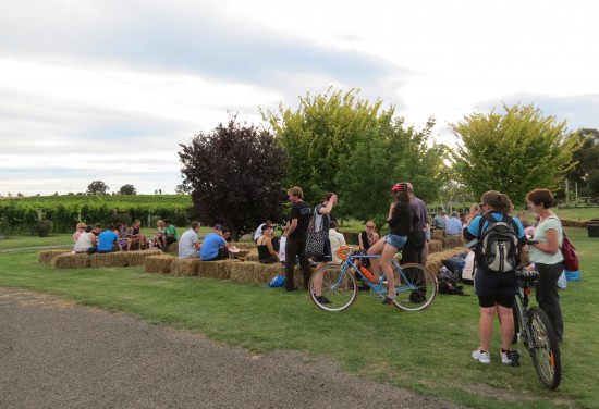 Bicycle Short Film Evening at Four Winds Vineyard