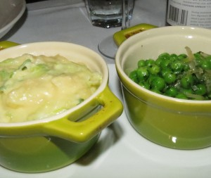 Colcannon and Peas
