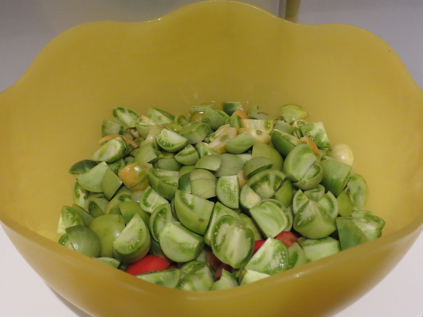 Green Tomato Chutney (and my thoughts on waste)