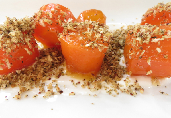 Carrots, labne and za'atar