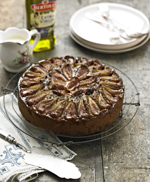 Fig, Balsamic and Polenta Cake