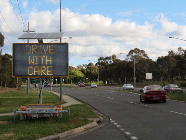 Drive With Care Sign, Haydon Drive, Bruce