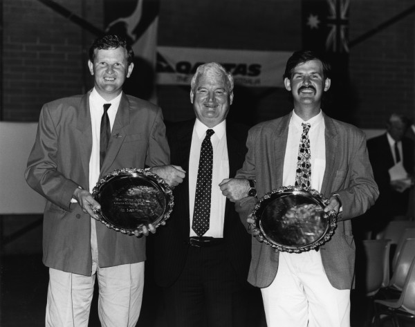 Jim Barry Wines winning the award for Best White Wine at 1989 Canberra Wine Show