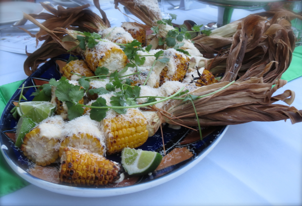 Grilled Corn with Cheese, Lime & Coriander, Adelaide Hilton, Eat Drink Blog 2012