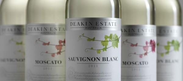 Deakin Estate Moscato and Deakin Estate Sauvignon Blanc