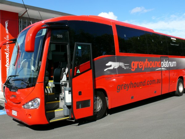 Greyhound Platinum service between Sydney and Canberra