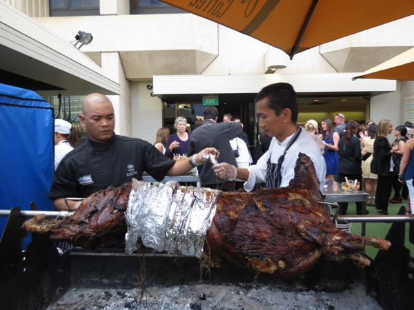 Lamb on Spit, Adelaide Hilton, Eat Drink Blog 2012