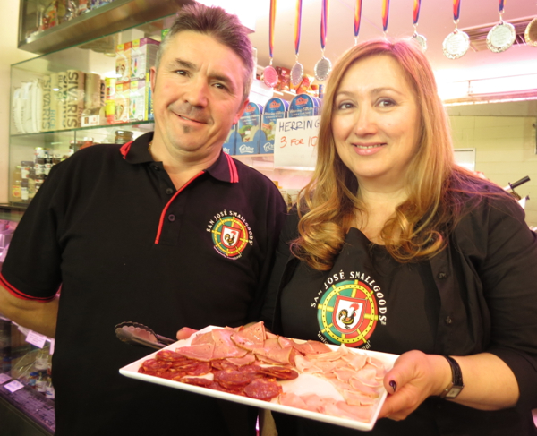 Jose Coutinho and Pascaline Marchi, San Jose Smallgoods, Adelaide Central Market