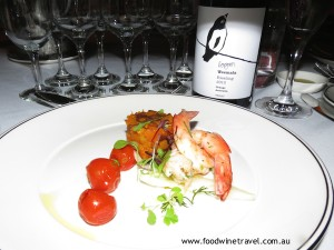 Entree served at National Wine Show 2012 dinner