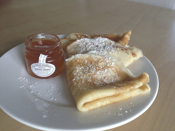 Pancakes with Seville Marmalade