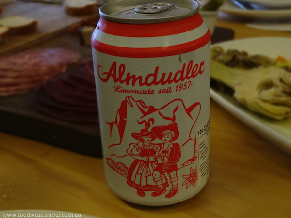 Almdudler herbal lemonade from Austria