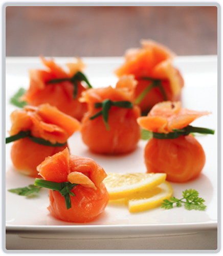 Smoked Salmon Bon Bons made with Tassal smoked salmon