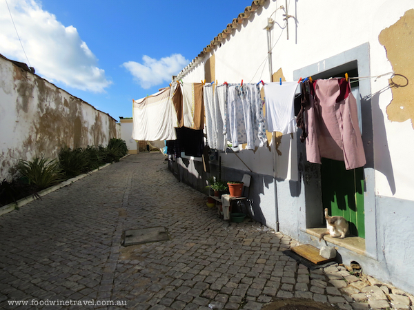 Washing hanging on the line in Faro, Portugal