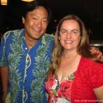 Christine Salins with Boston chef Ming Tsai.