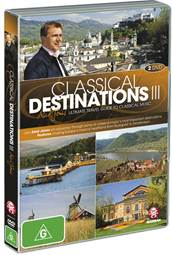 www.foodwinetravel.com.au Much of the world's greatest classical music was inspired by the scenery along the Danube, the Main and the Rhine rivers. Classical Destinations III is the third in a series of DVDs presented by Aled Jones.