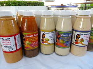 Sauces. The farmers market at the Royal Hawaiian Centre in Honolulu, every Tuesday from 3pm to 7pm, has a great range of products that highlight Oahu's wonderful bounty.