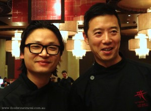 www.foodwinetravel.com.au With Luke Nguyen and Andy Bing at the Fat Noodle restaurant, The Star, Sydney.