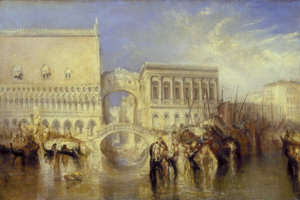 www.foodwinetravel.com.au Turner from the Tate exhibition, National Gallery of Australia. J.M.W. Turner, Venice, the Bridge of Sighs, exhibited 1840 Photo: © Tate, 2013
