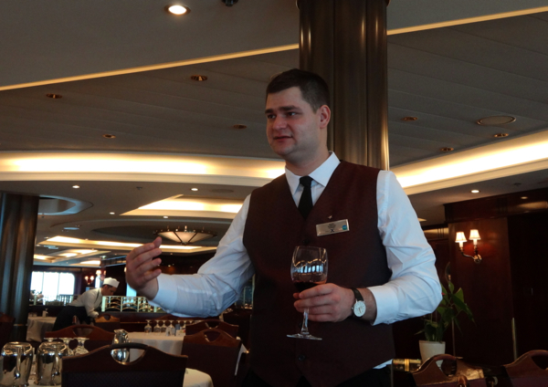 www.foodwinetravel.com.au Sommelier Imre. Celebrity Cruises 7-night Hubbard Glacier cruise, Inside Passage to Alaska.