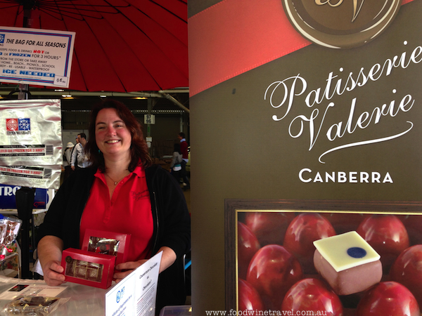 www.foodwinetravel.com.au Valerie Badiou of Patisserie Valerie makes chocolates and caramels that she sells at the Capital Region Farmers Market in Canberra and through the family business, Croissant D'or.