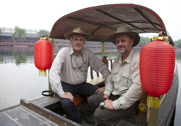 www.foodwinetravel.com.au Two Men In China, ABC DVD, Tim Flannery, John Doyle, Australians in China, travelling in China, ABC show on China.