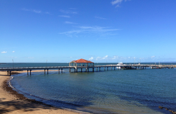www.foodwinetravel.com.au Redcliffe jetty, Redcliffe Museum, Near the Jetty exhibition, Gubbi Gubbi people, Gubbi Gubbi bark canoe, The Rustic Olive, restaurants in Redcliffe, things to do in Redcliffe.