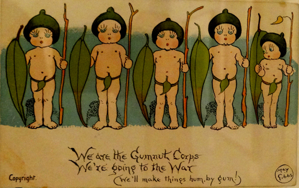 Keepsakes: Australians and the Great War exhibition at the National Library of Australia.