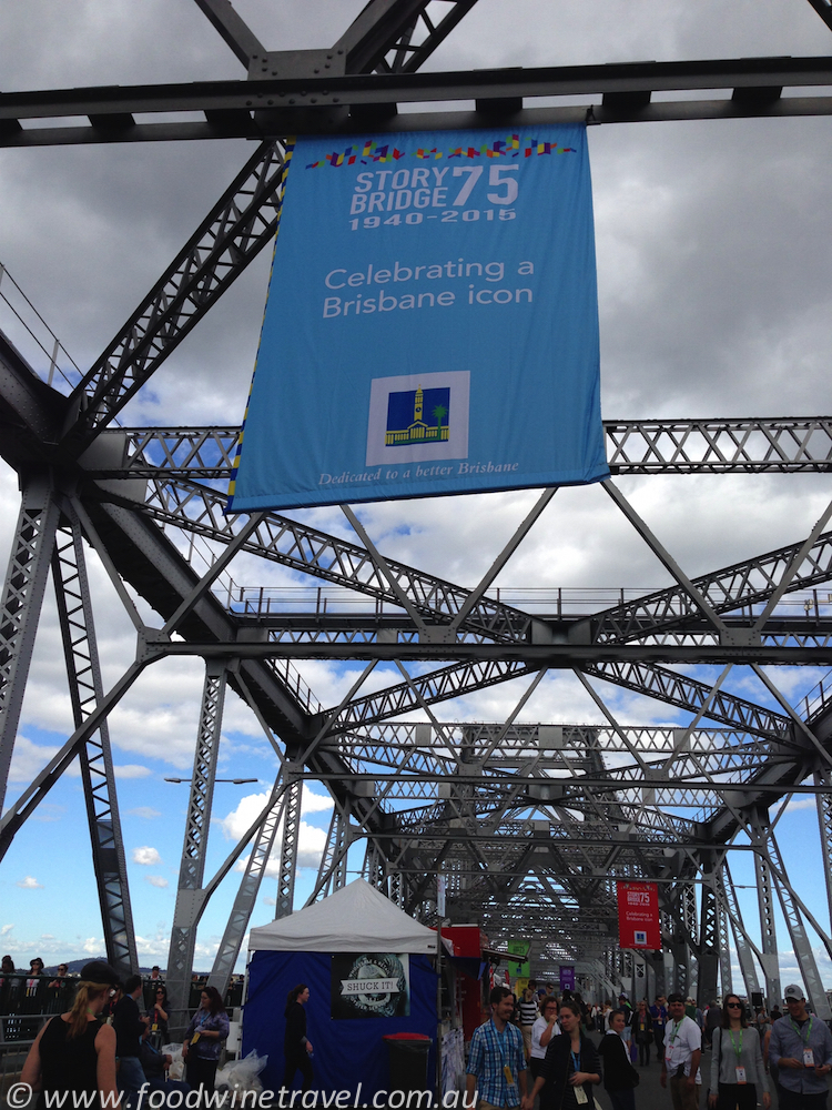 www.foodwinetravel.com.au, Story Bridge, 75th birthday, Eat Street Markets, Story Bridge closed to traffic.