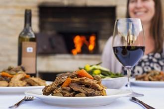 www.foodwinetravel.com.au, Primo Estate, Joe Grilli, McLaren Vale wineries, Joseph Moda Cabernet Sauvignon Merlot, Pot Roasted Chicken Lamb and Pork Rib Pieces recipe.