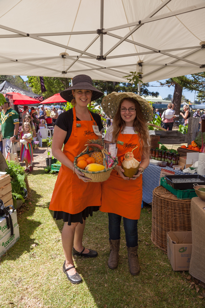 Market stallholders at Sunshine Coast Real Food Festival, Maleny Showgrounds.