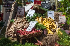 Organic produce at Sunshine Coast Real Food Festival, Maleny Showgrounds.
