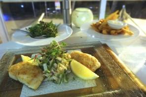 Snapper dish, Tides Restaurant, Caloundra.