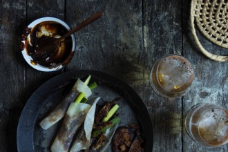 Duck Pancakes, Food + Beer, by Ross Dobson.