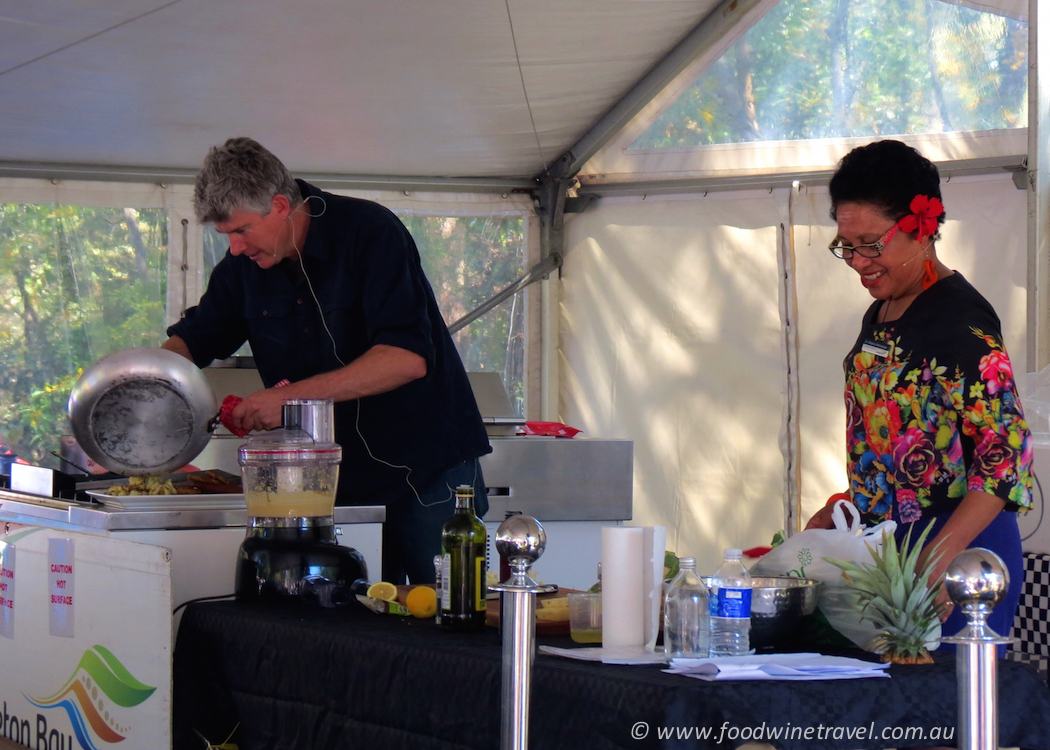Gourmet Farmer Matthew Evans was the special guest at What's Cooking in the Gardens?, an annual event in Redcliffe.