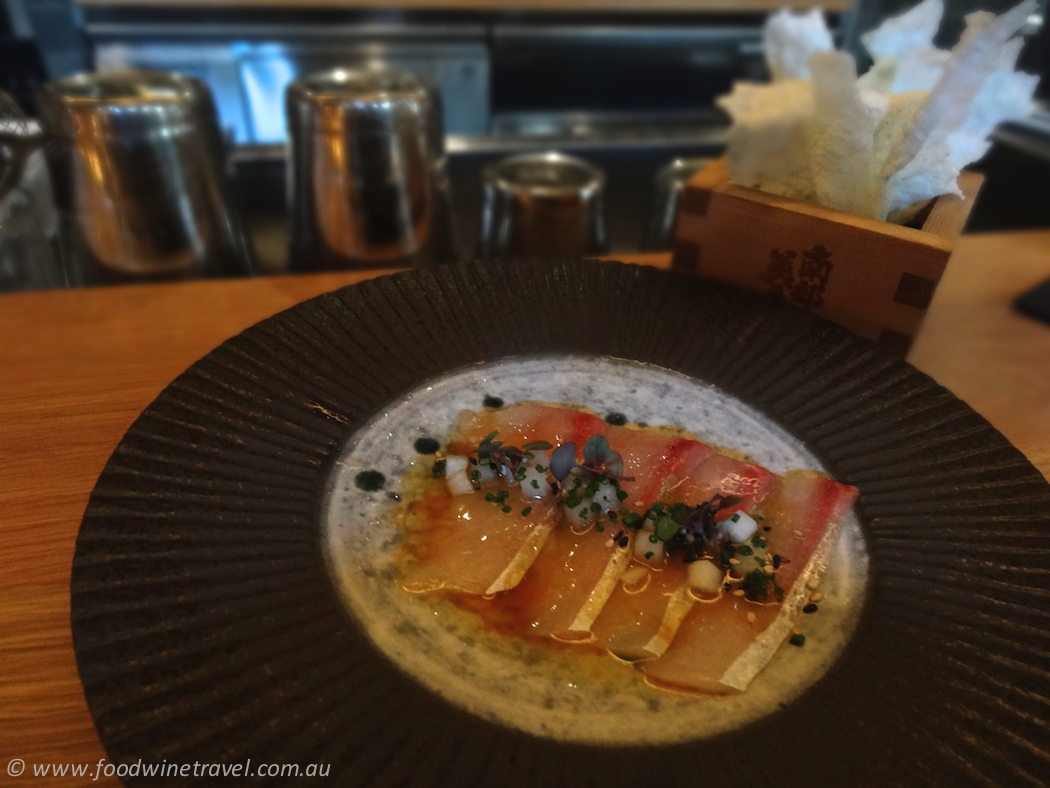 Hiramasa Kingfish with Crisps, Tokonoma Sydney
