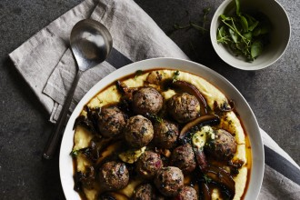Veal & Pork with Polenta & Mushroom, from Meatballs: The Ultimate Guide