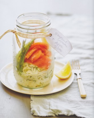 Smoked Salmon and Apple Slaw Jar, from Salads in a Jar