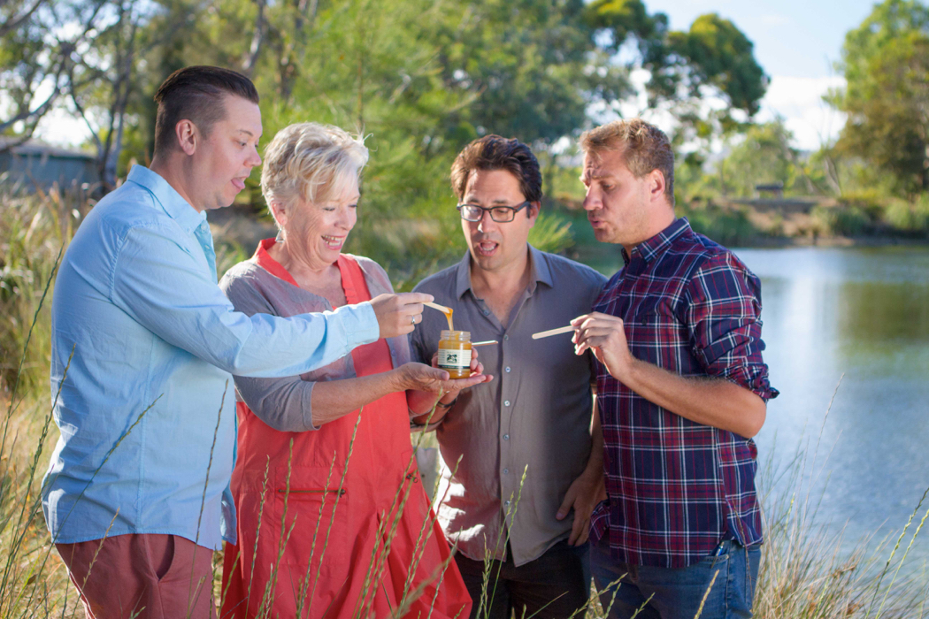 Plonk with Maggie Beer Josh, Nathan and Chris tasting with Maggie Beer at Maggie Beer's farm shop in Barossa - Ep 3