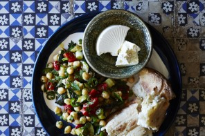 Zucchini and Chickpea Salad in Turkish Fire by Sevtap Yüce