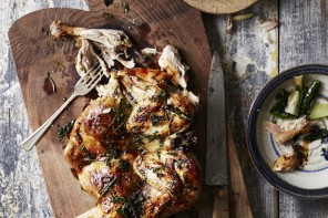 Roast Chicken and Herbs, from Sharing Puglia