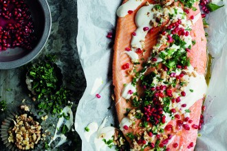 Delicious Feel Good Food Cookbook with Salmon with Tahini Recipe by Valli Little