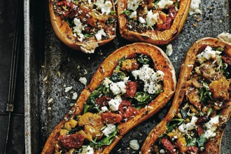 Balti baked Squash with feta, toms & mint, recipe from Secrets From My Indian Family Kitchen