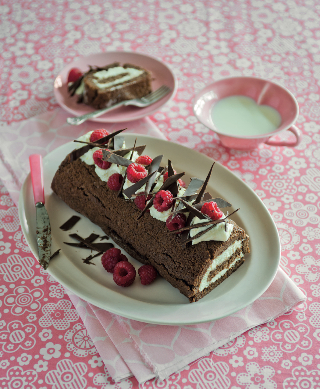 Calendar of Cakes Chocolate and Berry Roulade