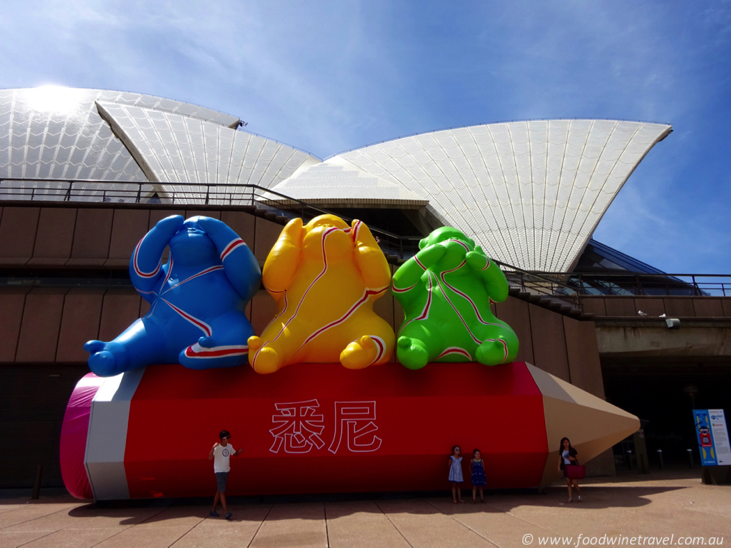 Chinese New Year in Sydney Three Wise Monkeys at the Opera House