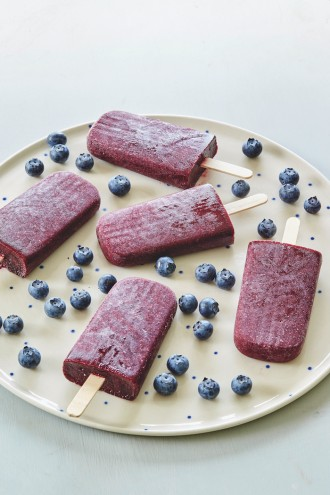 Blueberry and Chia Sorbet Icy Poles recipe from Superfoods For Kids by Rena Patten