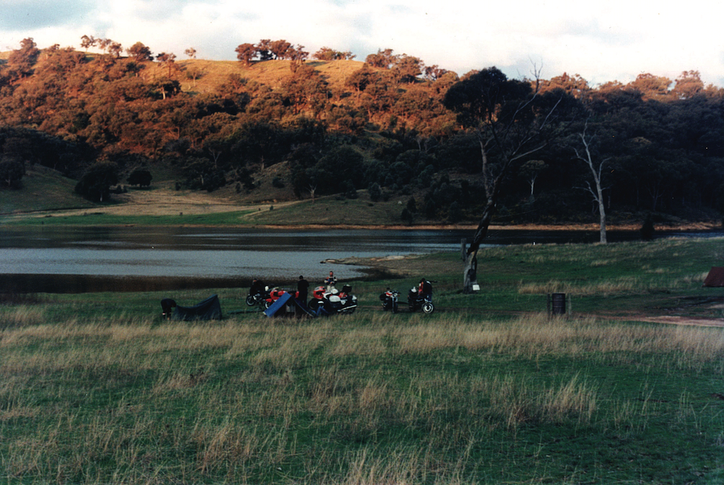 Ragged Fringe rally, Lake Wyangala NSW. Once Upon a Distant Journey by Hendrik Gout motorcycle experiences around Australia