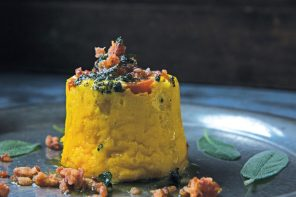 Pumpkin and Corn Timbales recipe from Sally Wise book A Kitchen In The Valley