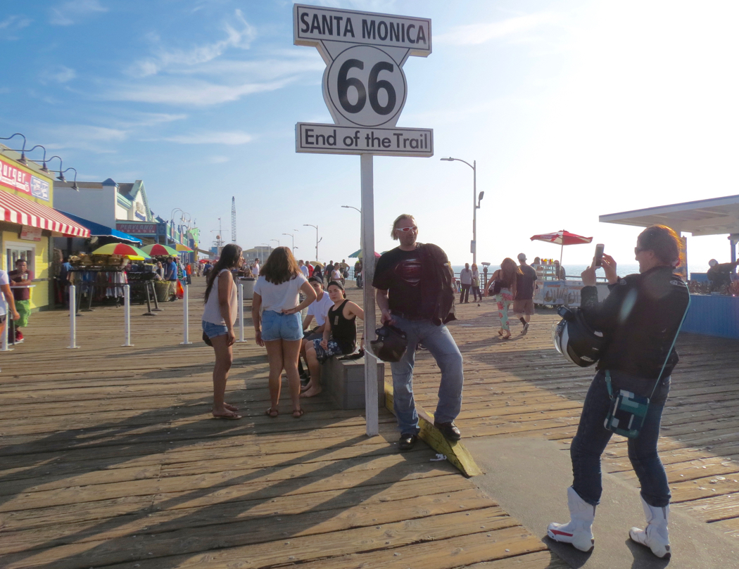 Santa Monica Pier, the end of Route 66.